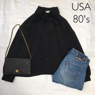 エディットフォールル(EDIT.FOR LULU)のUSA ヴィンテージ 80's blouse ブラウス ポリエステル(シャツ/ブラウス(長袖/七分))