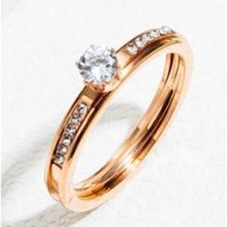 新作入荷 かわいい指輪 2つに分かれます おしゃれリング(リング(指輪))