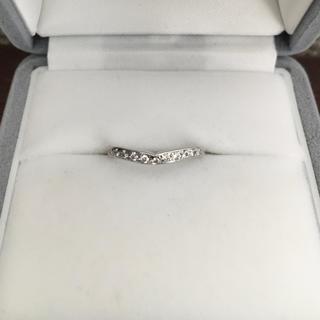 ニワカ(俄)の 俄 NIWAKA ダイヤモンド 睡蓮 リング Pt950 0.11ct(リング(指輪))