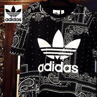adidas - アディダス オリジナルス 黒 ペイズリー Tシャツ タンクトップ ジャージ