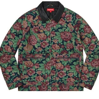 Supreme - Supreme Leather Collar Work Jacket  XL