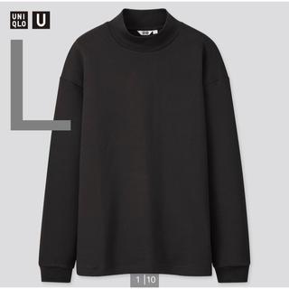 ユニクロ(UNIQLO)のユニクロユー UNIQLOU モックネックプルオーバー  長袖 ブラック 新品(Tシャツ/カットソー(七分/長袖))