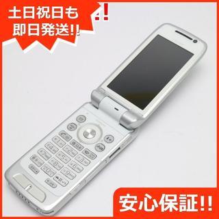 ソニー(SONY)の美品 SO903i ホワイト 白ロム(携帯電話本体)
