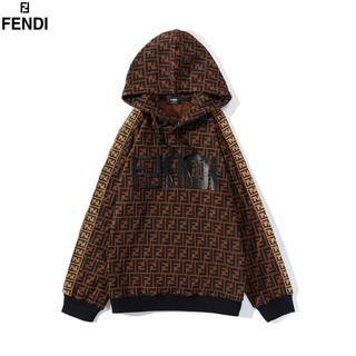 フェンディ(FENDI)の刺繍✨\2枚13500/フェンディFENDI長袖パーカーフード付き#6(パーカー)