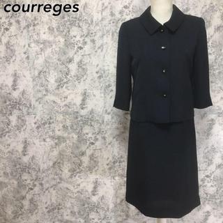 クレージュ(Courreges)のクレージュ ラメ ワンピース ジャケット セットアップスーツ 黒 M相当(スーツ)