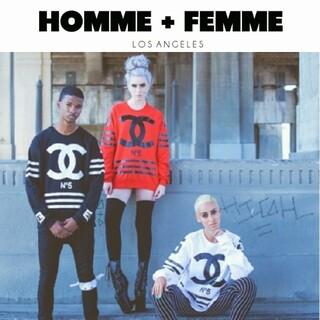 HOMME + FEMME LA オムファム エルエー トレーナー スウェット