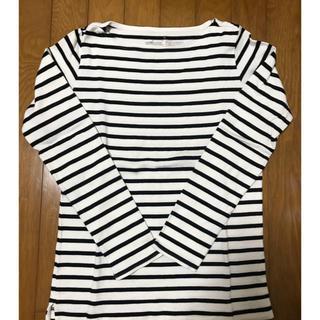 MUJI (無印良品) - 無印 長袖ボーダーTシャツ
