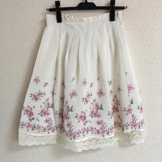 花柄リバーシブルスカート(ひざ丈スカート)