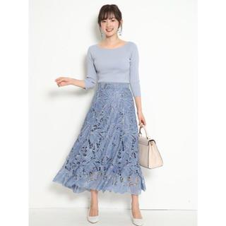 JUSGLITTY - ジャスグリッティー レース刺繍フレアスカート0