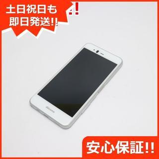 フジツウ(富士通)の美品 F-04K ホワイト 本体 白ロム (スマートフォン本体)