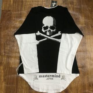 マスターマインドジャパン(mastermind JAPAN)のMasterMind Japan MMJ ロンT 長袖 ブラック/ホワイト(Tシャツ/カットソー(七分/長袖))