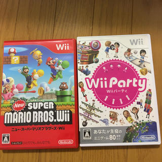 ウィー(Wii)のWii Party New スーパーマリオブラザーズ Wii セット(家庭用ゲームソフト)