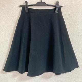 フレアスカート 黒(ミニスカート)