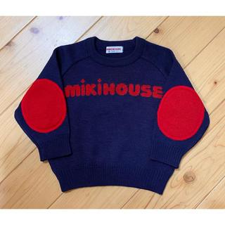 ミキハウス(mikihouse)のNEKOtora様専用 MIKI HOUSE ロゴ入り セーター 80cm(ニット/セーター)