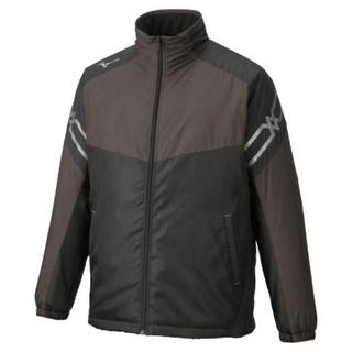 ミズノ(MIZUNO)のミズノ ブレスサーモ 中綿ジャケット 32ME9630 ブラック Lサイズ 男女(ナイロンジャケット)