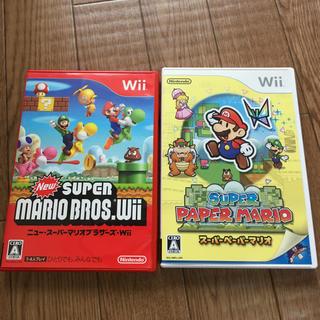 ウィー(Wii)のスーパーペーパーマリオ New スーパーマリオブラザーズ Wii セット(家庭用ゲームソフト)