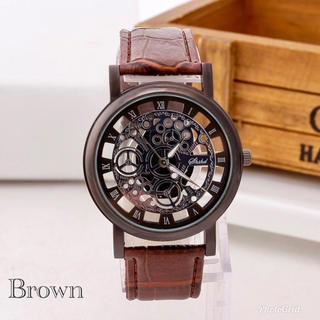 腕時計 メンズ ステンレス レザー 革 ベルト ウォッチ ギリシャ ブラウン(腕時計(アナログ))