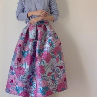 Chesty - HIAND ハイアンド フラワー刺繍スカート ピンク
