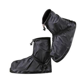 シューズカバー 靴カバー 防水 梅雨対策 レインカバー 滑り止め コンパクト 黒(レインブーツ/長靴)