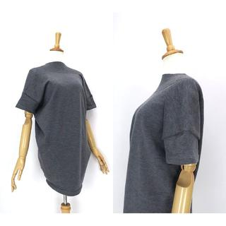 ミュウミュウ(miumiu)のmiumiu ミュウミュウ 変形縫製◎ニットトップス(ひざ丈ワンピース)