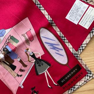 BURBERRY - Burberryバーバリーハンカチ 女の子 刺繍