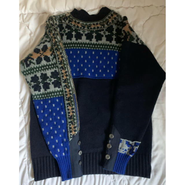 sacai(サカイ)のFLORAL STRIPE EMBROIDERY KNIT sacai ニット メンズのトップス(ニット/セーター)の商品写真