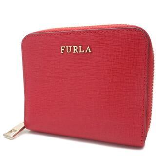 フルラ(Furla)のフルラ コンパクト財布 ラウンドファスナー2つ折り財布 レザー レッド赤(財布)