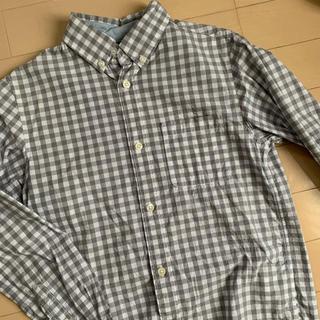 エイチアンドエム(H&M)の半袖シャツ チェックシャツ グレー(ブラウス)
