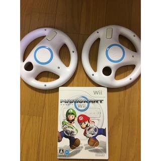 ウィー(Wii)のマリオカートWii ハンドル セット 2(家庭用ゲームソフト)