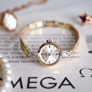 OMEGA - OH済 美品✨オメガ 14金無垢 ダイヤ 腕時計✨ロレックス トゥモローランド