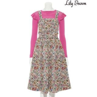 リリーブラウン(Lily Brown)のlily brown  ゴブラン織り ワンピース(ひざ丈ワンピース)