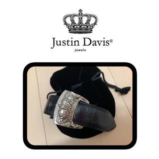 ジャスティンデイビス(Justin Davis)のJustin Davis (ジャスティン デイビス) レザーバングル(ブレスレット/バングル)