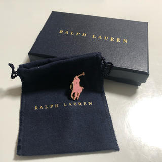 ポロラルフローレン(POLO RALPH LAUREN)のラルフローレン  ピンクポニー   ピンバッジ ピンズ 箱付き(その他)