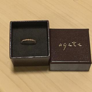 アガット(agete)のアガット ピンキーリング バブル #1(リング(指輪))