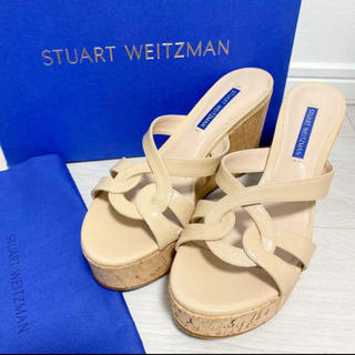Stuart Weitzman - 新品!定価40000円 スチュワートワイツマン 23.5 サンダル ベージュ