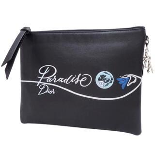 クリスチャンディオール(Christian Dior)のクリスチャンディオール クラッチバッグ レザー ブラック黒 ブルー青(クラッチバッグ)