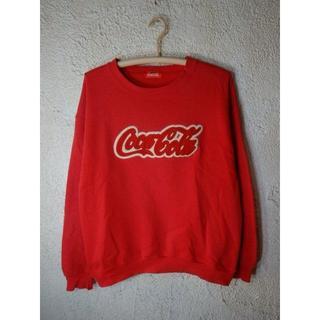 コカコーラ(コカ・コーラ)のo1652 レア レトロ ビンテージ コカ コーラ スウェット トレーナー(スウェット)
