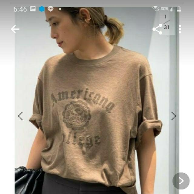 DEUXIEME CLASSE(ドゥーズィエムクラス)のアメリカーナ College Tシャツ レディースのトップス(Tシャツ(半袖/袖なし))の商品写真