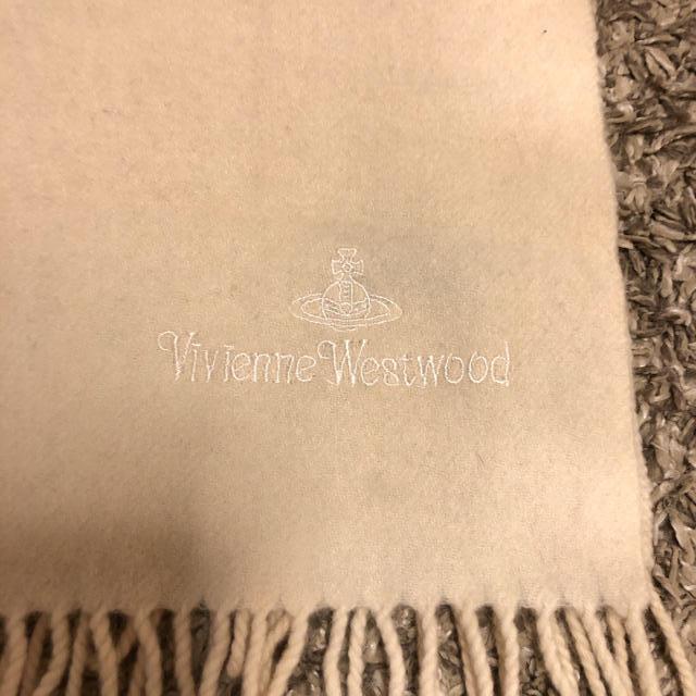 Vivienne Westwood(ヴィヴィアンウエストウッド)のヴィヴィアンウエストウッド●アイボリー マフラー●ホワイト 系●ヴィヴィアン レディースのファッション小物(マフラー/ショール)の商品写真