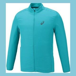 アシックス(asics)の新品 アシックス asics メンズ ジャケット ランニングウェア 緑 L(ナイロンジャケット)