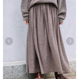 ルカ(LUCA)のミューニック Munich ウールクレープガーゼギャザーマキシスカート(ロングスカート)