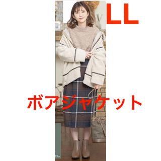 シマムラ(しまむら)の☆プチプラのあや DFボアJK    ボアジャケット コート(ノーカラージャケット)