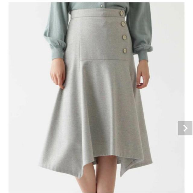 JILLSTUART(ジルスチュアート)のジルスチュアート ブランカアシンメトリースカート  サイズ2 レディースのスカート(ひざ丈スカート)の商品写真