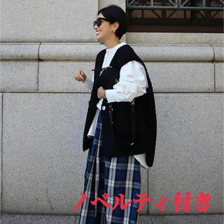 【新品未使用】パイピングボアベスト(ブラック)