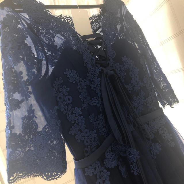 パーティドレス 編み上げ レディースのフォーマル/ドレス(ミディアムドレス)の商品写真