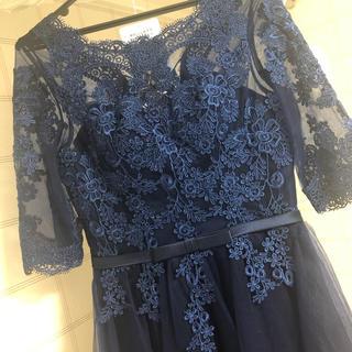 パーティドレス 編み上げ(ミディアムドレス)