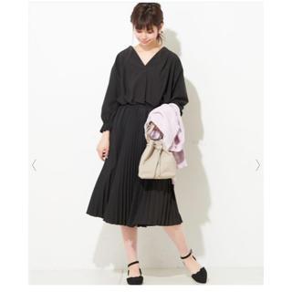 natural couture - おしゃれプリーツワンピース