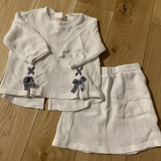 petit main - プティマイン トップス スカート セット 100cm 女の子