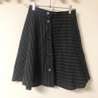 サンタモニカ(Santa Monica)の古着 ヴィンテージスカート フレアスカート フロントボタン(ひざ丈スカート)