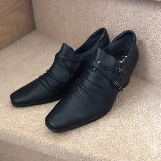 ゼニス(ZENITH)のZenith Kobe ゼニスコウベ*黒 革靴 ブーツ パンプス 22.5(ブーツ)